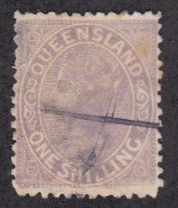 Queensland # 70, Queen Victoria, Used, 1/3 Cat.