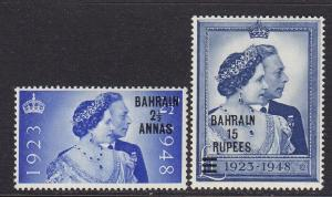 Bahrain Scott #'s 62 - 63 Set VF mint OG lightly hinged cv $ 38 ! see pic !