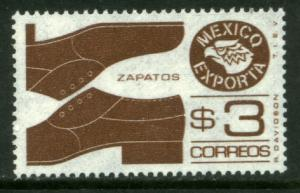 MEXICO Exporta 1118b, $3P Shoes Unwmk Thin Paper 3. MINT, NH. VF.