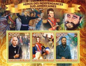 BENIN 2020 HEROES OF INDEPENDENCE HIDALGO O'HIGGINS CASTRO [#2]