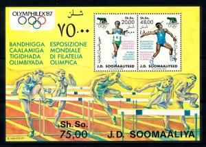 [92309] Somalia 1987 Olympic Games Athletics Sheet MNH