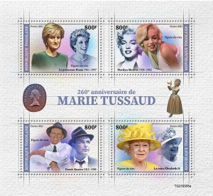 TOGO - 2021 - Marie Tussaud - Perf 4v Sheet - Mint Never Hinged