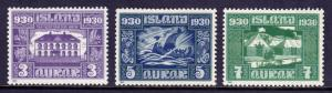 ICELAND — SCOTT 152//154 — 1930 ALTHING MILLENARY ISSUE — MH —SCV $13.50