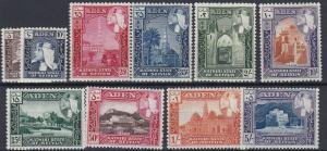 ADEN  KATHIRI  1954   S G  29 - 38     SET OF 10       MNH