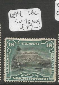 North Borneo 1894 18c SG 78 MOG (4cxz)