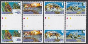 British Indian Ocean Territory 2005 Crabs gutter pairs MNH CV £20.70