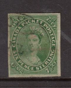 Canada #9 Extra Fine Used Large Margins With Scarce Town Cancel