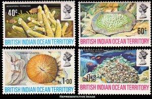British Indian Ocean Territory Scott 44-47 Mint never hinged.
