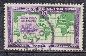NEW ZEALAND SC# 237  USED  SHIP ROUTES SEE SCAN