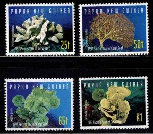 PNG Papua New Guinea Scott 924-927 MNH** Coral set