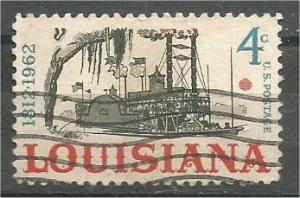 UNITED STATES, 1962, used 4c Louisiana Statehood Scott 1197