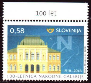 Slovenia. 2018. 1287. 100 years of the national gallery building. MNH.