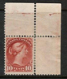 Canada #45 Very Fine Mint Original Gum Hinged Remnant UR Margin Single