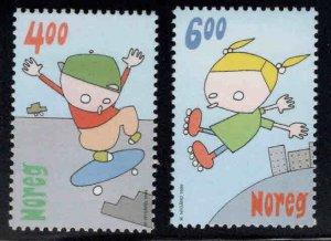 Norway Scott 1236-1237 MNH** 1999 children game set