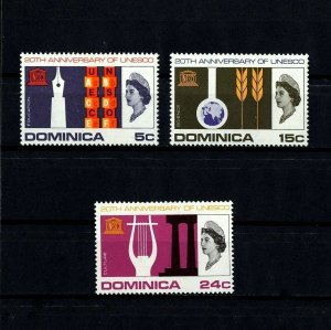 DOMINICA - 1966 - QE II - UNESCO - EDUCATION - SCIENCE - CULTURE - MINT MNH SET!