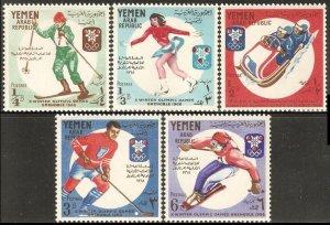 Yemen MNH 619-23 Grenoble Olympics 1968