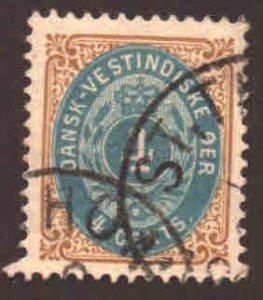 Danish West Indies Scott 18 Used