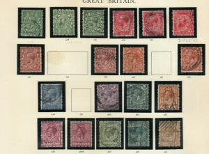 GEORGE 5TH 1924-26 SET INC SOME INVERTED USED SG418-SG429