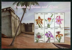 GHANA  ORCHIDS OF GHANA AND AFRICA SHEET II  MINT NH