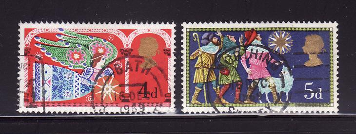 Great Britain 605-606 U Christmas (A)