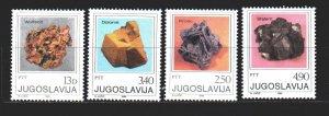 Yugoslavia. 1980. 1849-52. Minerals, geology. MNH.