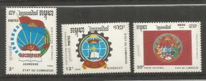 CAMBODIA, 1008-1010, MNH, NATIONAL