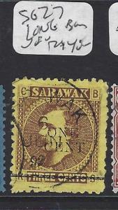SARAWAK  (PP3010B)  1C/3C BROOKE  LITHO SG 27  LONG BAR  CDS  VFU