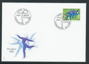 Switzerland B554 1989 Sports UA FDC