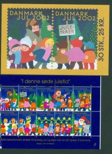 Denmark.  Booklet  2002.  With 30 Christmas Seals  Mnh. Santa, Children.