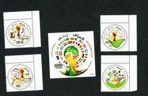 2015 - Iraq- FIFA WORLD CUP Football - Brasil 2014- Soccer - MS+ Set 4v.MNH**