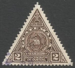 GUATEMALA O7 VFU ARMS N307