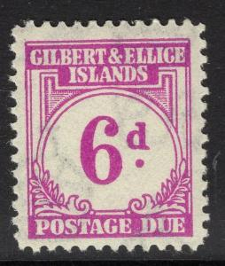 GILBERT & ELLICE IS. SGD6 1940 6d PURPLE POSTAGE DUE MNH