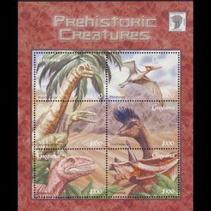 GUYANA 2001 - Scott# 3668 S/S Dinosaurs NH