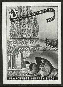 Switzerland 1939-45 WWII Feldpost Soldier GUARDING Local Vignette F/VF-H