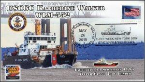 19-122, 2019, USCGC Katherine Walker, Pictorial Postmark, New York Fleet Week, E