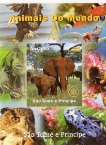 Sao Tome and Principe 2005 Freemasonry/Rotary/Fauna/Elephant SS#9  MNH
