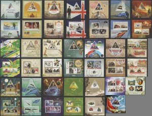 PE608-628 2015 DJIBOUTI SPACE TRANSPORT FAUNA BIRDS WAR !!! 21BL+20KB MNH STAMPS