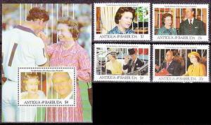 1991Antigua & Barbuda1522-25+1526/B209Prince Charles and Princess Diana