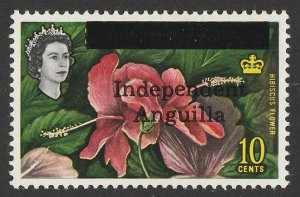 ANGUILLA : 1967 'Independent Anguilla' QEII Hibiscus 10c. MNH **.