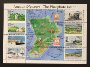Palau 1991 #263 S/S, Angaur, MNH.