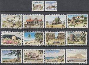 Nevis 121a-134a MNH VF
