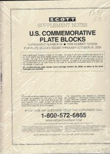 Scott U.S. Commemorative Plate Blocks Supplement #59 2008