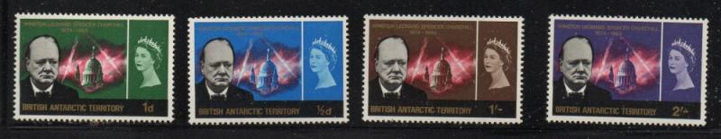 British Antarctic Territory Sc 16-19 1964 Churchill stamp set mint NH