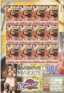 Antigua & Barbuda 2005 Lucious Harris NBA Player Basketball People Stamps MNH