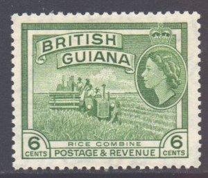 British Guiana Scott 258 - SG336, 1954 Elizabeth II 6c MH*