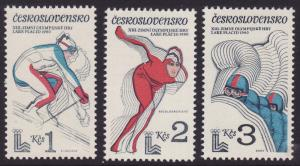 Czechoslovakia #2290-92 F-VF Mint NH ** Lake Placid Olympics