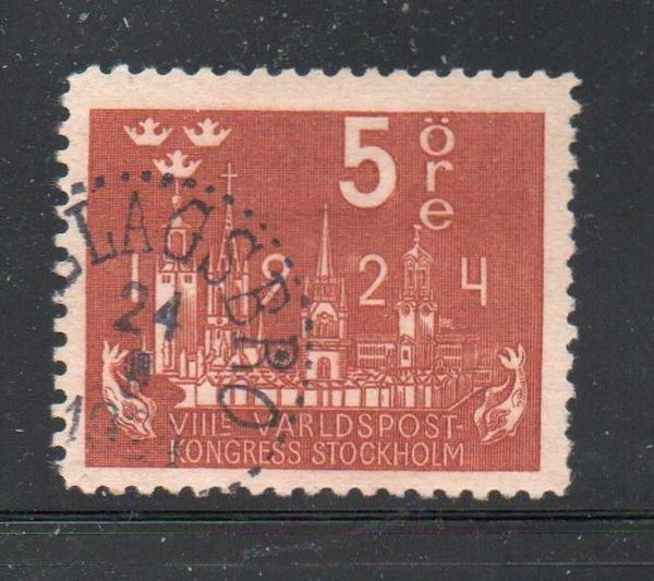 Sweden Sc 197 1924 5 ore UPU Congress stamp used