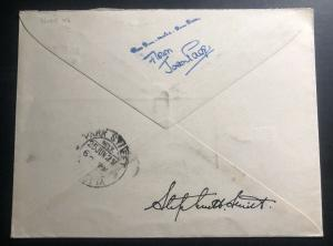 1929 Dum Dum Joan Page Pilot Steven Smith Signed India Airmail Cover to Calcutta