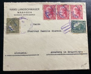 1934 Managua Nicaragua Commercial Cover To Annaberg Germany