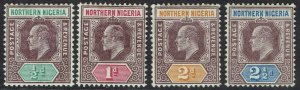 NORTHERN NIGERIA 1905 KEVII 1/2D - 21/2D WMK MULTI CROWN CA